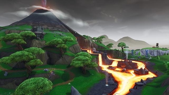 la carte de fortnite battle royale a ete redessinee une fois de plus cette fois par une eruption volcanique lors d un evenement live le samedi - carte fortnite saison 8 apres eruption