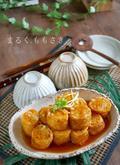 生姜あんで食べる♪豆腐入り鶏ひき肉の油揚げロールの画像